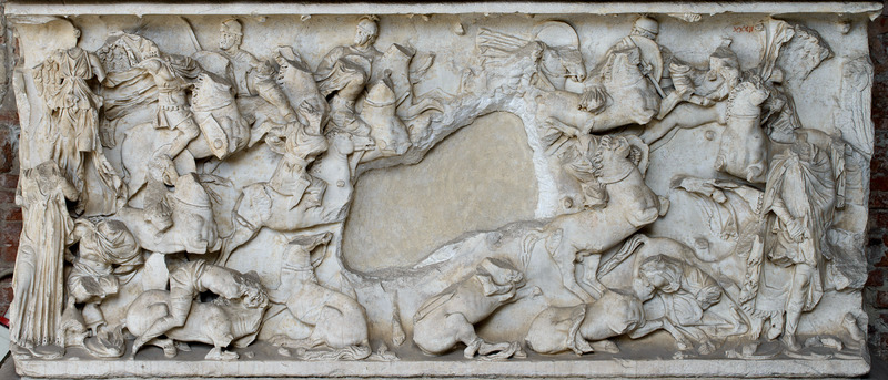 Sarcophagus with Battle Scenes